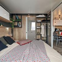 NV 83 - chambre parent - Vente mobil-homes neuf et occasion en Normandie